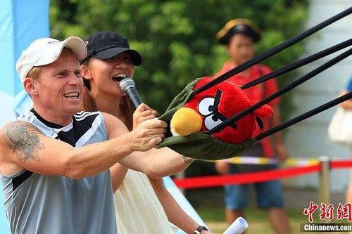 Angry Birds vida real