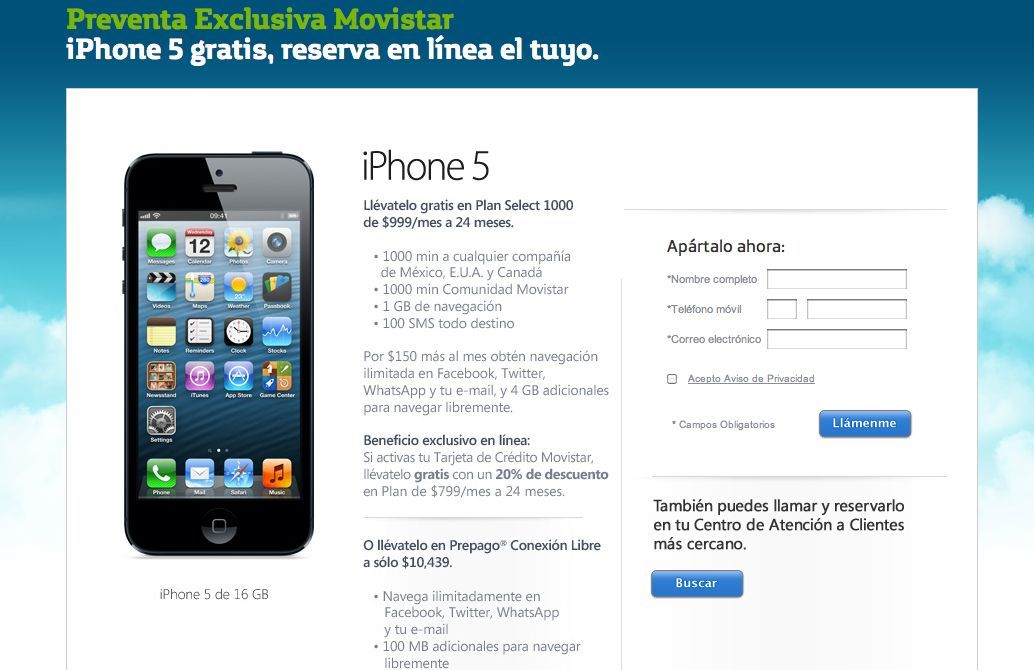 Ofertas Iphone Movistar