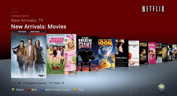 Netflix en Xbox 360