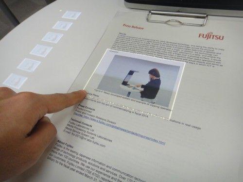 Fujitsu convierte el papel en pantalla táctil (video)