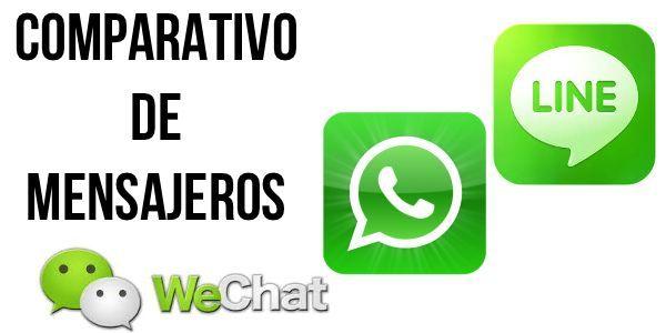 Comparativa: WeChat vs Line vs Whatsapp