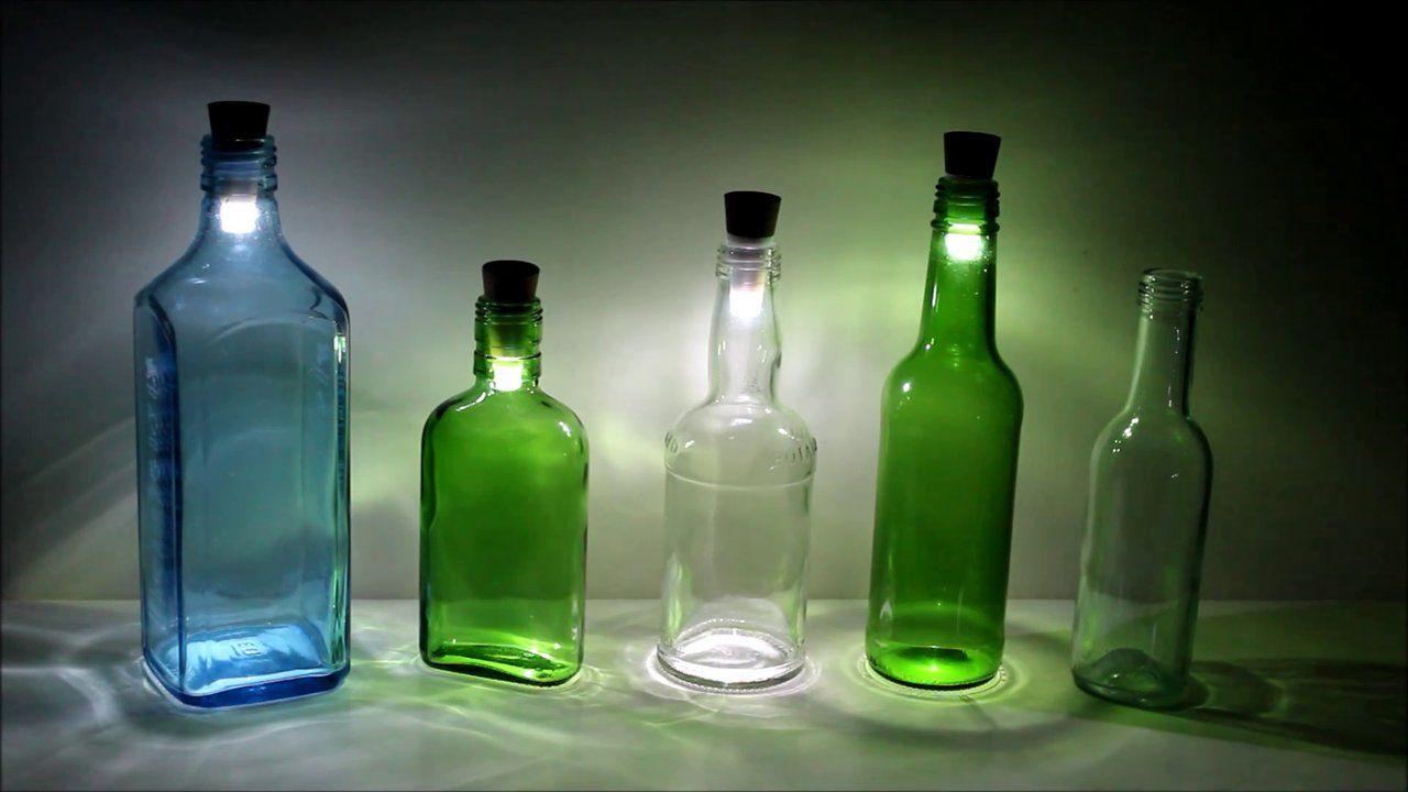Decotech lamparas hechas de botellas de vidrio vacias - Lamparas hechas con botellas ...
