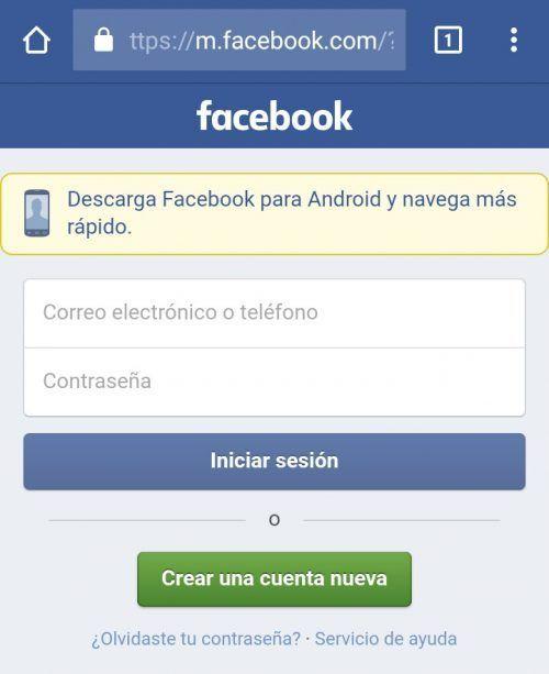 crear facebook nuevo sin numero celular