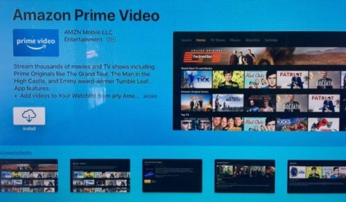 descargar amazon prime video en apple tv