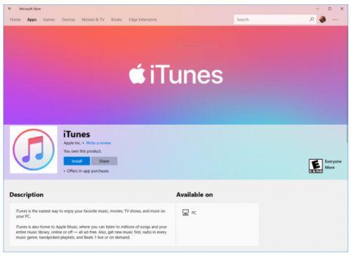 iTunes para Windows 10 S