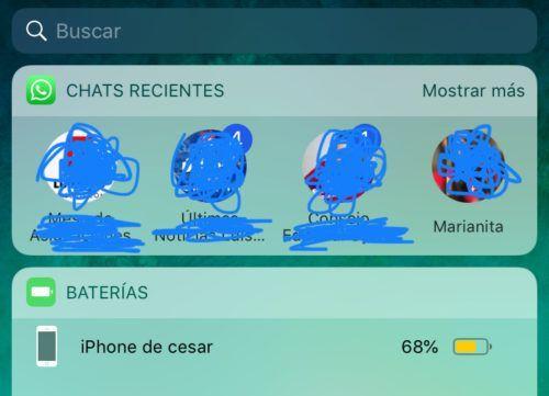chats recientes de WhatsApp en iPhone