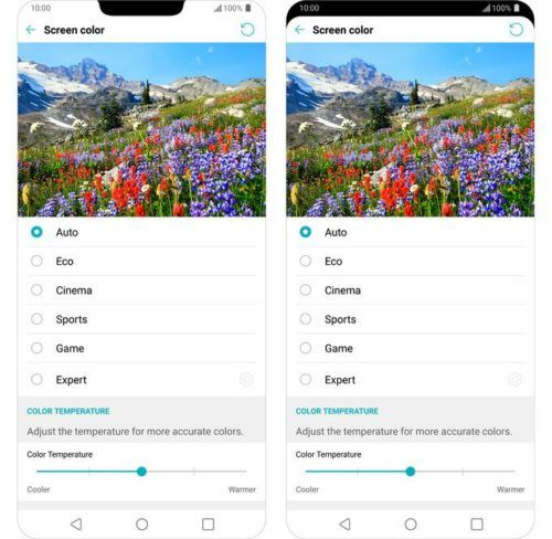 pantalla del LG G7 ThinQ