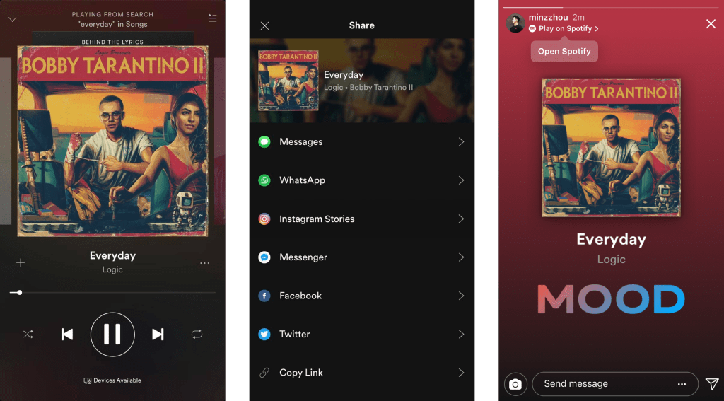 música en Instagram