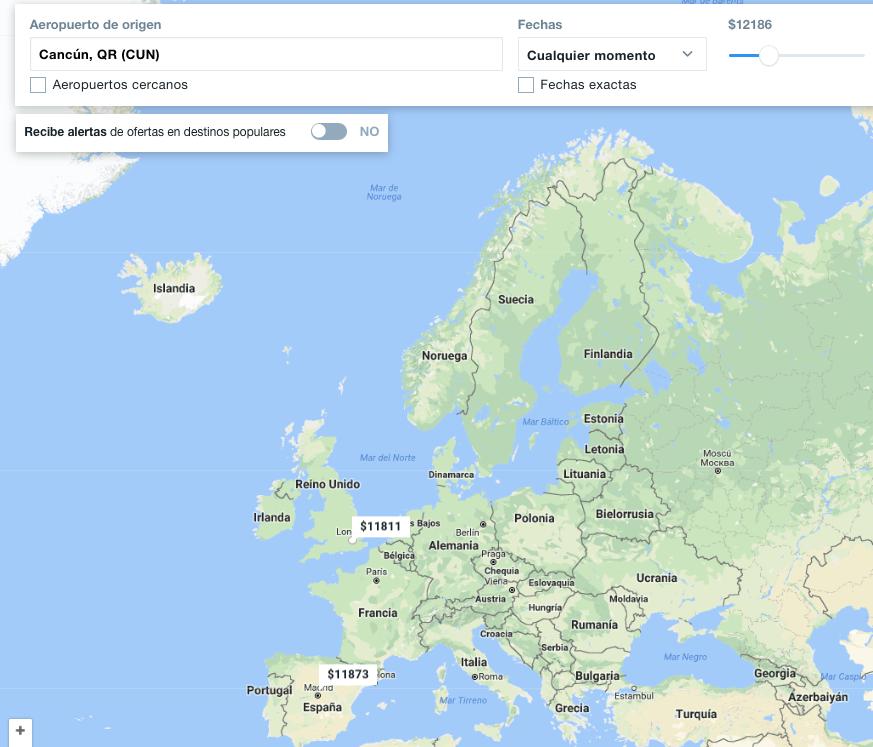 vuelos baratos a Europa