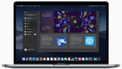 mac app store nueva macOS Mojave