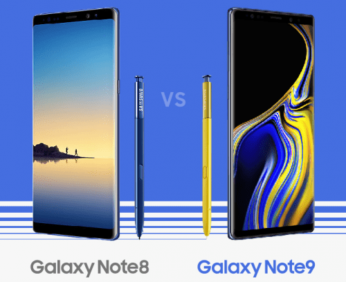 Samsung Galaxy Note 9 vs Note 8