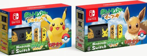 Nintendo Switch de Eevee y Pikachu
