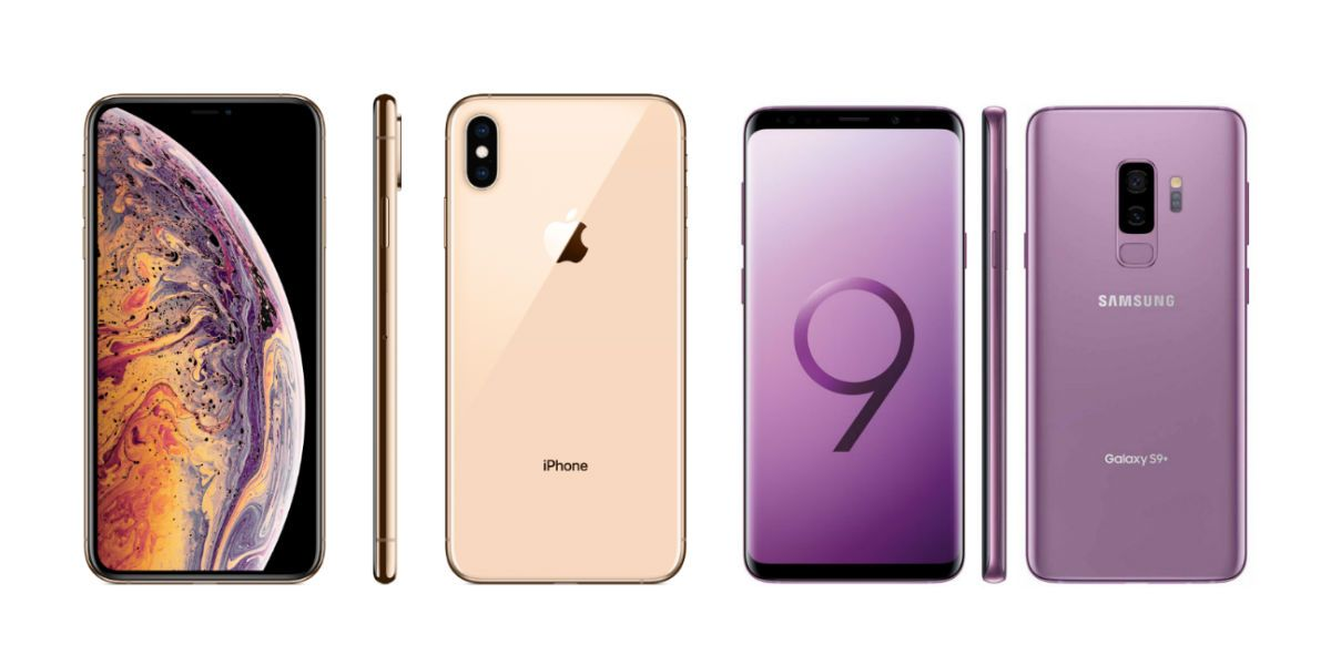 Frente a frente el iPhone XS Max vs Samsung Galaxy S9 Plus  |