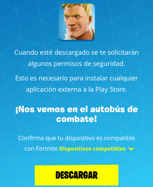 Descargar gratis Fortnite para Android