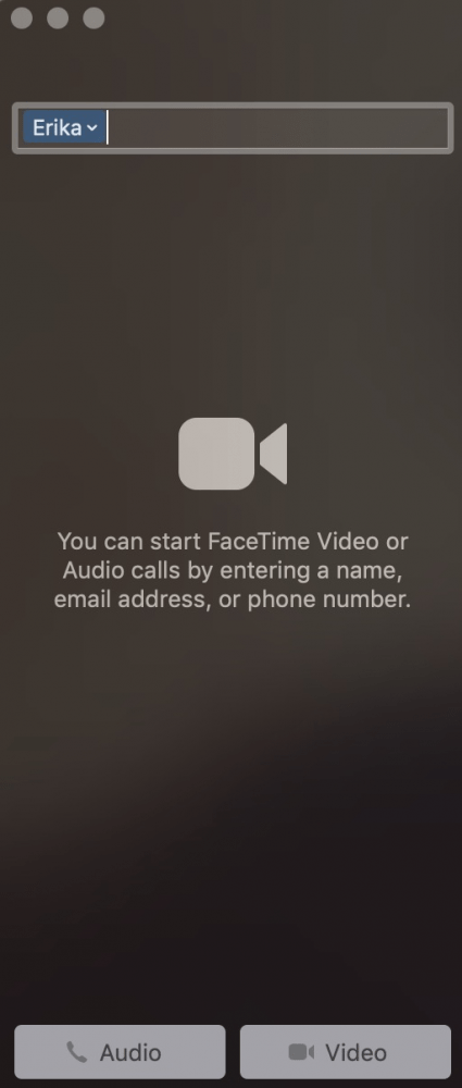 Facetime en Mac