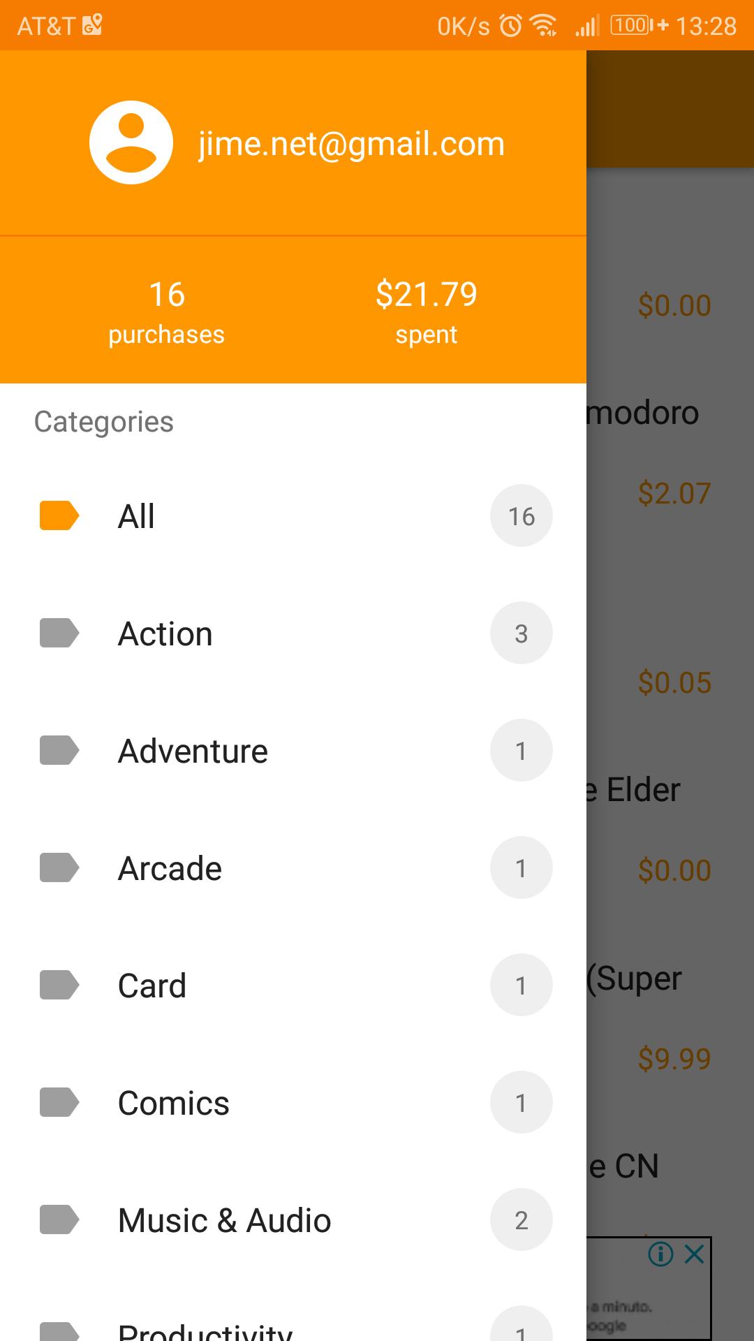 gastado en apps