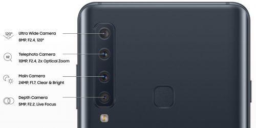cámaras traseras del Samsung Galaxy A9 2018