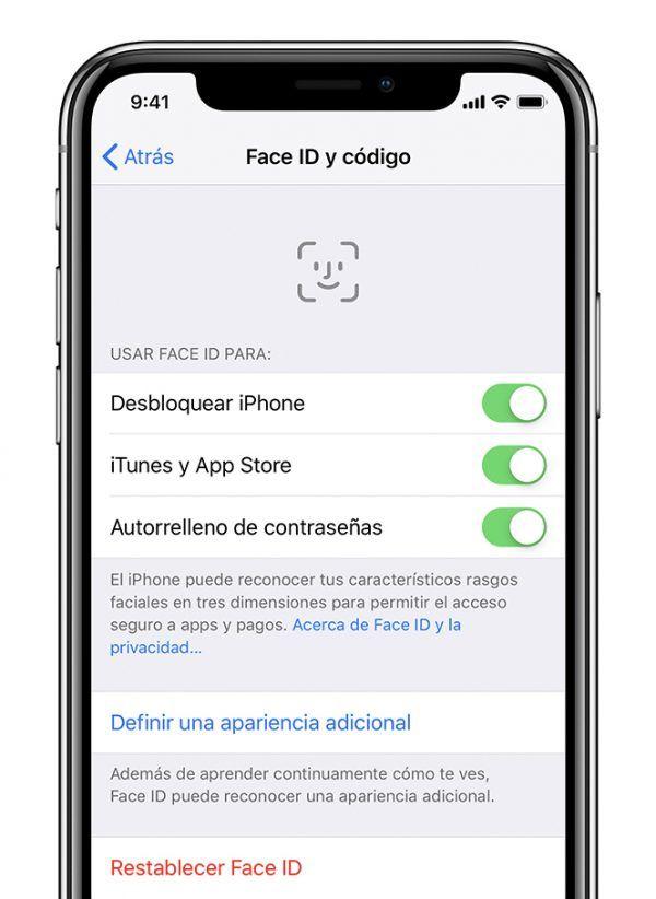 Configurar Face ID en iOS 12