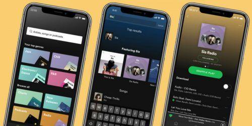 actualización de Spotify para iOS y Android