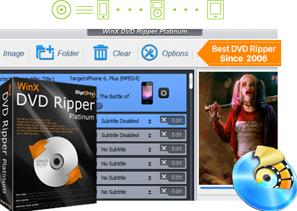 WinX DVD Ripper, convertir DVD a MP4