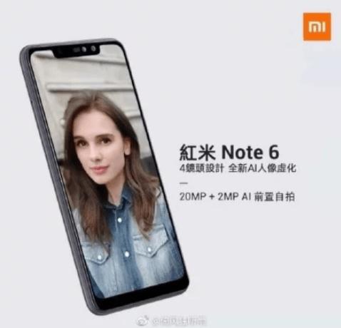 lanzamiento del Xiaomi Redmi Note 6