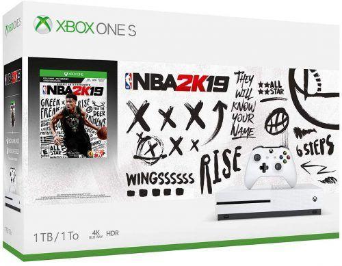 paquete de Xbox One S con Echo Dot y NBA 2K19