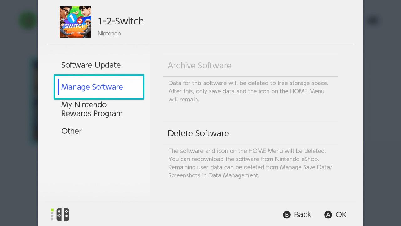 cambiar tus juegos de Switch a la tarjeta SD