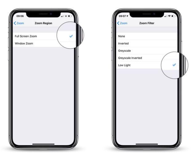 ajustar el brillo en un iphone
