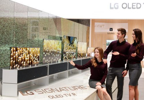 pantallas enrollables de LG