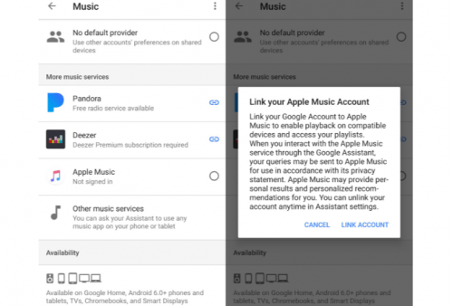 Apple Music en Google Home