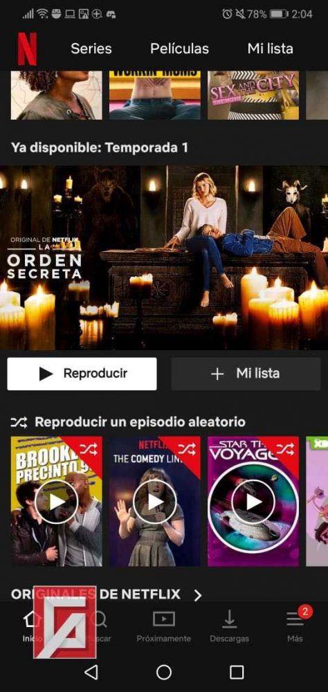 modo aleatorio en Netflix
