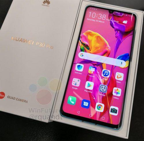 caja de venta del Huawei P30 Pro