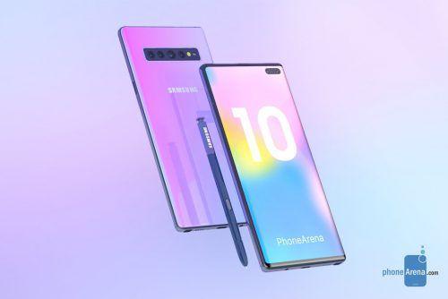 Primeros renders del Samsung Galaxy Note 10