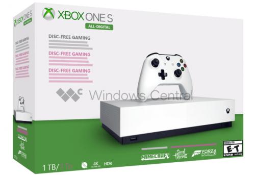 Xbox One S sin disco