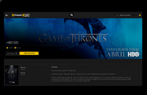 cómo ver Game of Thrones en Cinépolis Klic