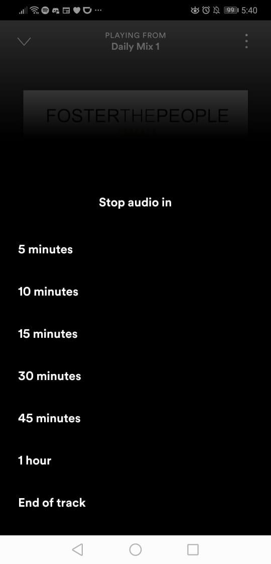 cómo usar el temporizador de Spotify