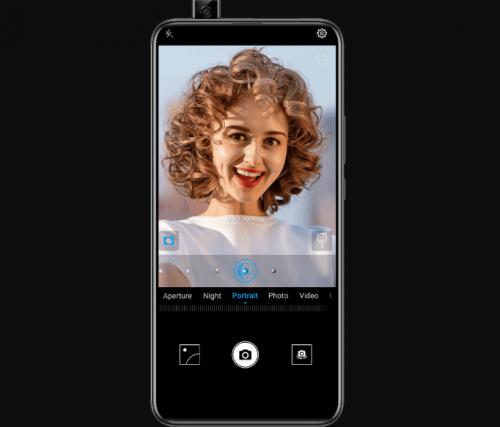 Huawei Y9 Prime pop up camera