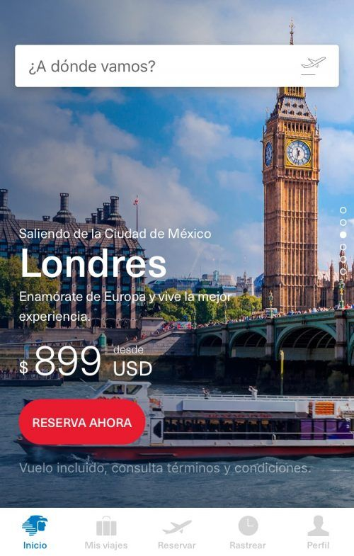 Aeroméxico app Aeroméxico aplicación
