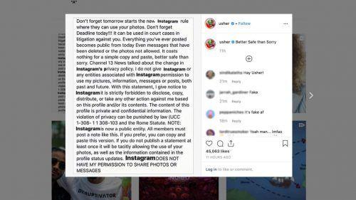 Derechos de fotos en Instagram