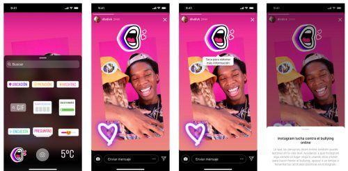 Sticker de Instagram contra el bullying