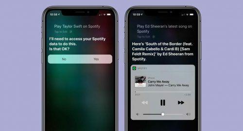 Spotify con Siri