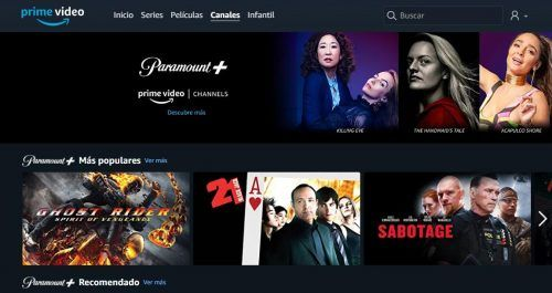Amazon Prime Video canales