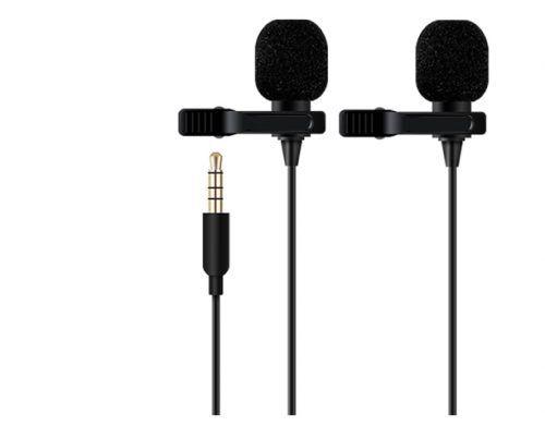 Micrófonos para podcast lavalier con solapa