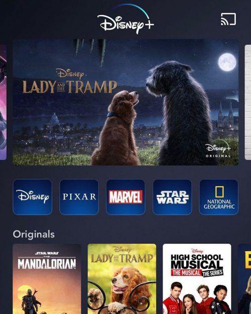 Lanzamiento de Disney Plus