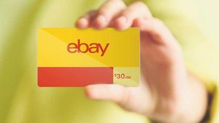 Tarjetas de regalo de eBay