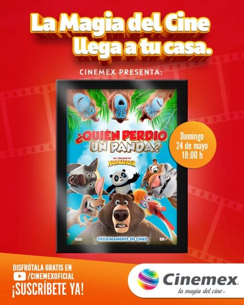 Funciones digitales de Cinemex ¿quién perdió un panda?