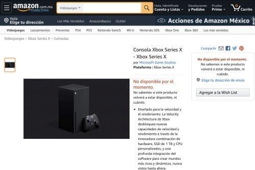 Xbox Series X en Amazon México