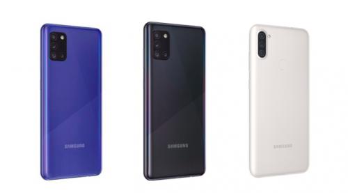 Samsung Galaxy A31, Galaxy A21s y A11