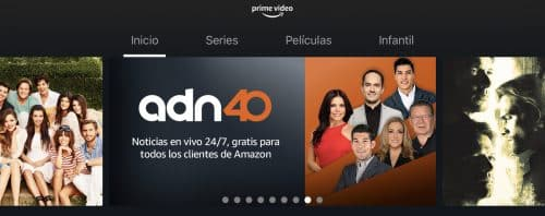 Canales en vivo en Prime Video