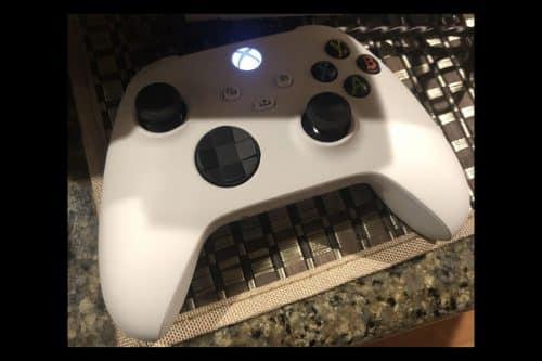 control del Xbox Series X en blanco